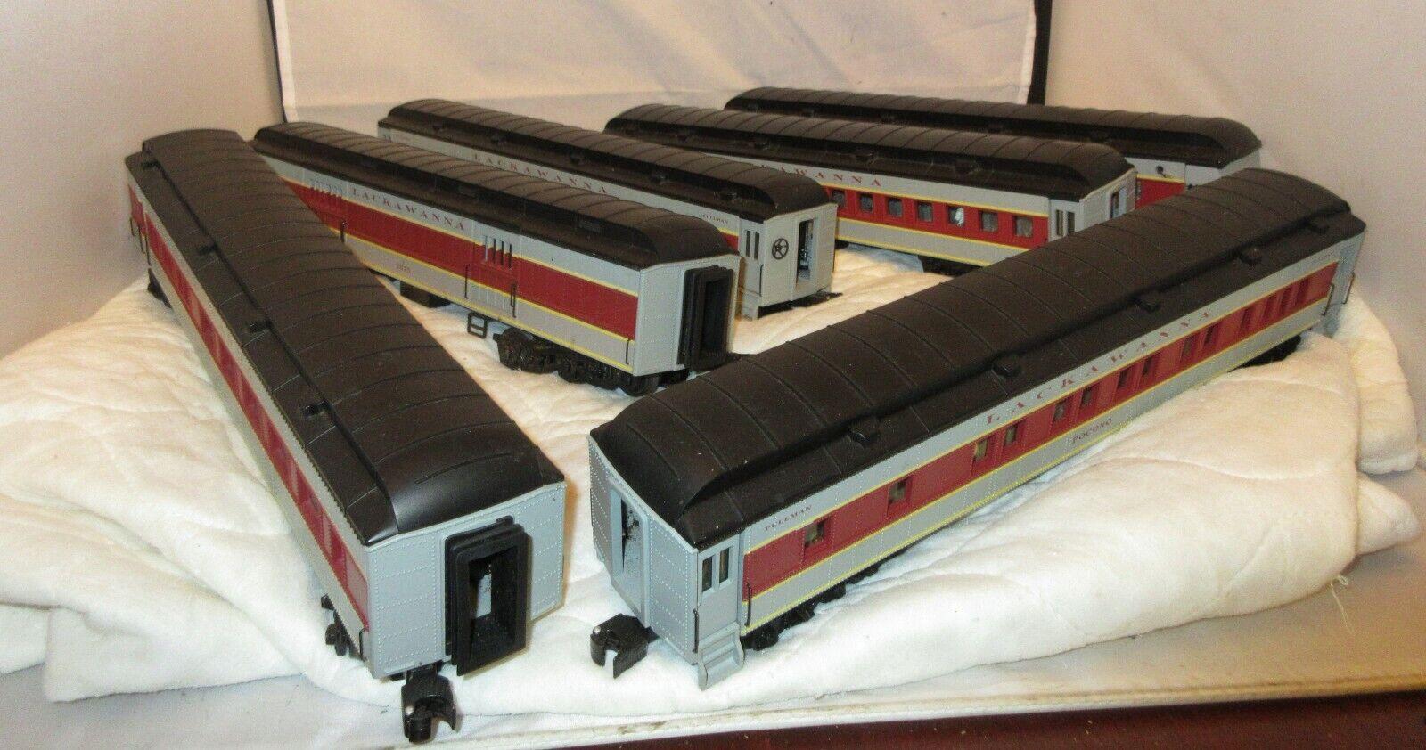 K-Line Lackawanna o calibre 6-Car Conjunto De Coche pasajeros de peso pesado
