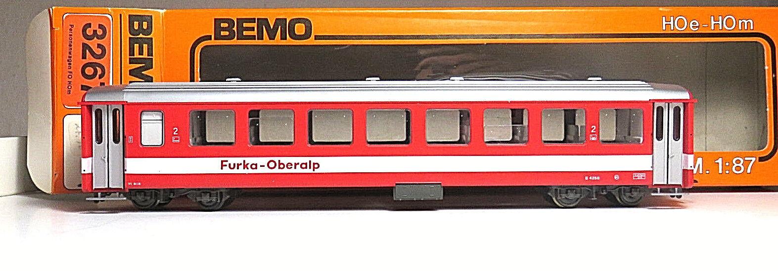 Vetture passeggeri 4268 FO Furka Oberalp BEMO 3267 traccia h0m OVP  nno