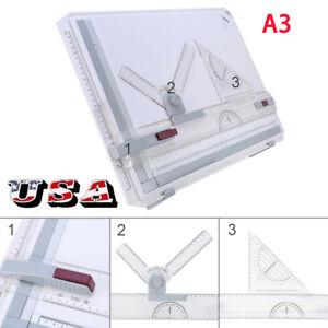 Architect-A3-Drafting-Drawing-Board-Ruler-Table-Adjustable-Angle-Tool-Set-US