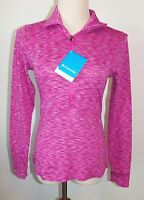 Columbia Sportswear Xs Athletic Shirt Half Zip L/s Cotton Top Pink Jacket