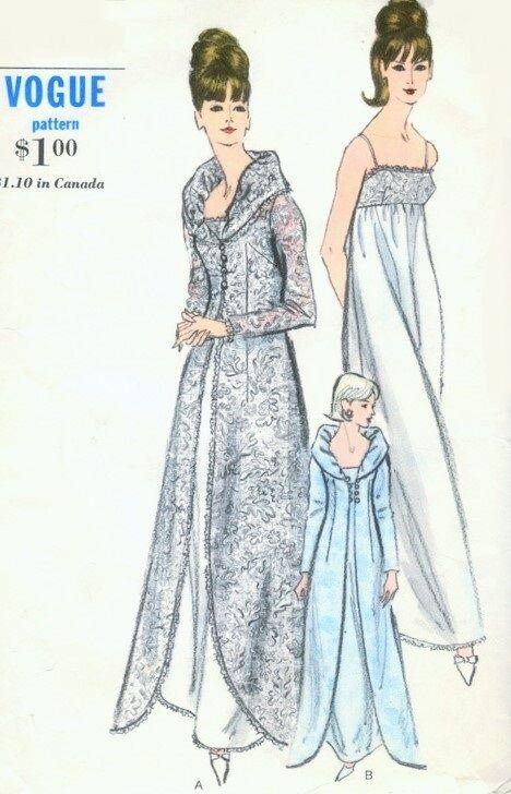 0b626fd749 1960s Vintage Vogue Sewing Pattern B36