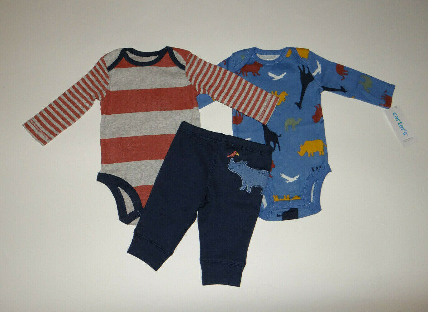 NWT, Baby boy clothes, Newborn, Carter's 3 piece set/~~SEE DETAILS ON SIZE/FLAPS