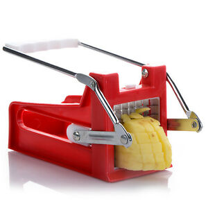 2-Blades-Stainless-French-Fries-Slicer-Potato-Chipper-Chip-Cutter-Chopper-Maker