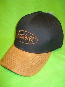 PETERBILT HAT  Black   Tan Strap Back Trucker s Cap  FREE SHIP   03508dcab33