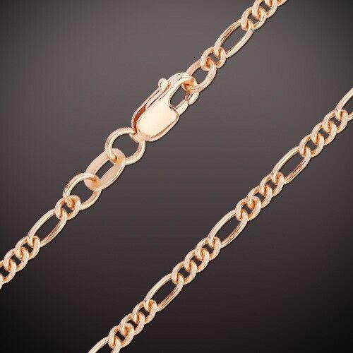 Rotgold Rose Gold 585/14kt Kette Armband dünne Halskette Figaro 2.0 mm breit