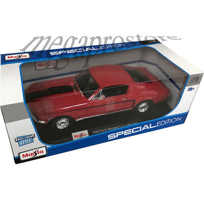 White MAISTO DIECAST 1:18 SCALE 1968 Ford Mustang GT Cobra Jet Red or Blue