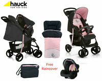 Hauck Shopper Slx Pushchair Travel System Shop N Drive+bag+cosytoes Pink Birdie