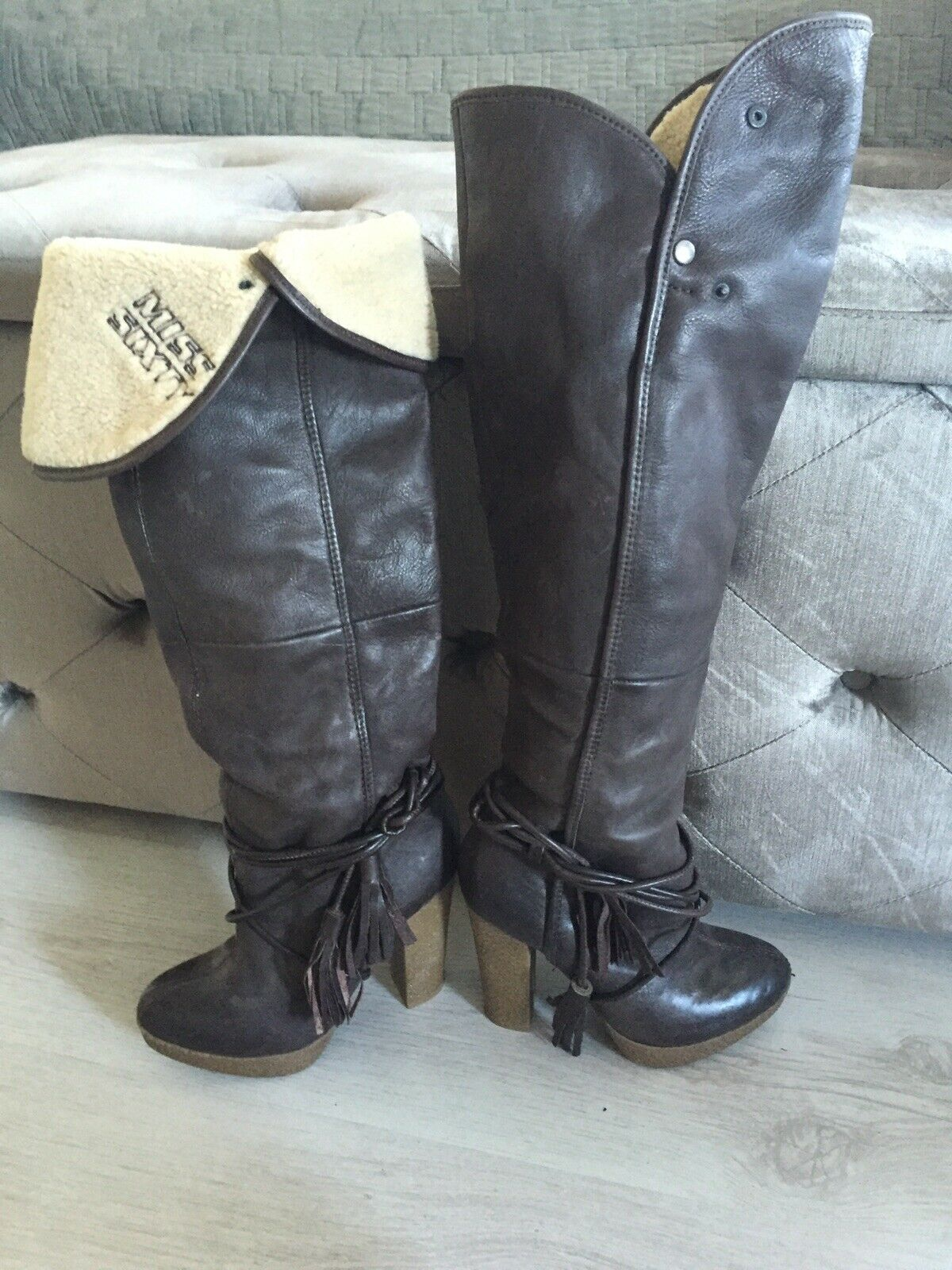 68f282d745c Miss Sixty Boots Over The Knee Uk4 nvzsjm6995-Women s Boots - www ...