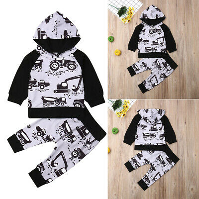 Toddler Outfits Newborn Baby Boy Girls Autumn Winter Clothes Hooded Tops Pants