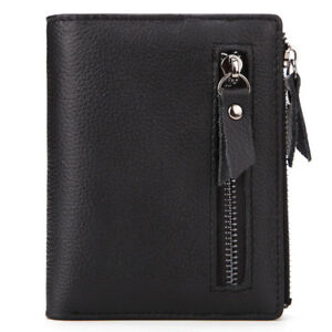 Men/'s Multifunction Leather Wallet Zipper Coin Purse Credit Card Holder Wallets