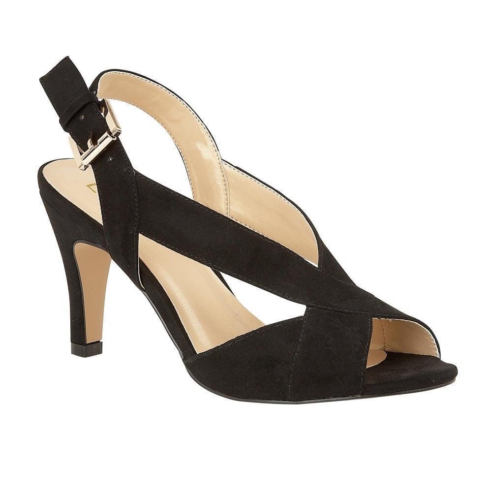 Lotus ENDIVE Noir Microfibre Cour Chaussures