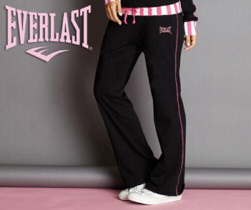 Everlast Noir Rose Blanc Pantalon de Survêtement Bas Jogging Gym Gratuit UK Ship