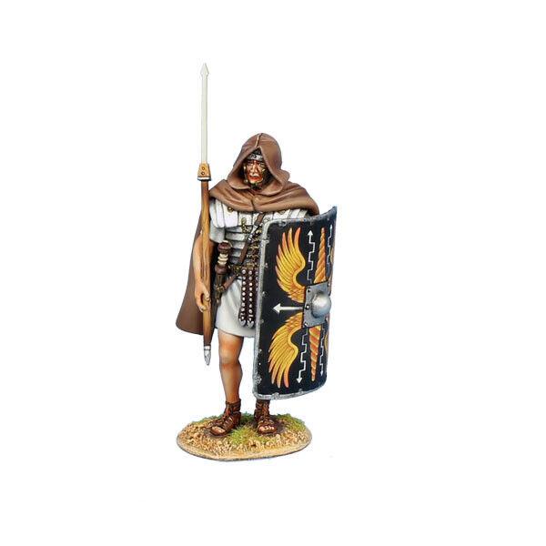 Första legionen  ROM73b Den romerska legionären stående w  Cloak Legio II Augusta