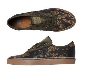 quality design 29eca 51a6c Details about New Size 10.5 Adidas Mens Adi Ease Shoe Canvas Green  Camouflage Flames Low Top