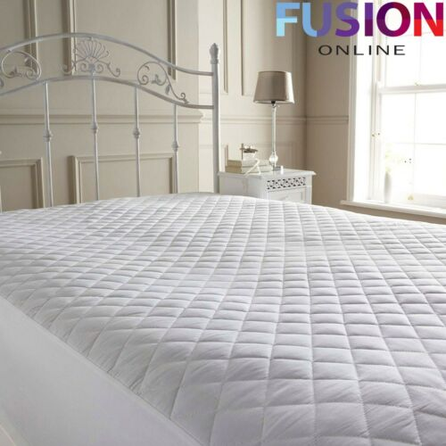 Mattress Protector Cover Bed Luxury Quilted Poly Cotton Cover Deep All Bed Sizes
