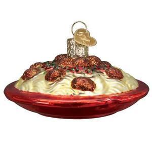 Old-World-Christmas-SPAGHETTI-AND-MEATBALLS-32447-N-Glass-Ornament-w-OWC-Box