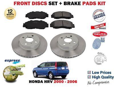 PADS KIT FOR FORD KA 1.0 1.3 1.6 2000-2008 FRONT VENTED BRAKE DISCS SET