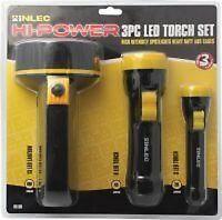 3pc LED Torch Set - 13 LED Lantern Super Bright LEDs + 2 LED Torches Warranty 3y