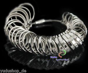 Ausdauernd Ring-maß Chrom Metall Mass Schmuck Gerät Messung Größe 39-71mm