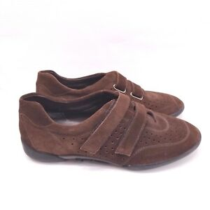 5b6b2fe76c8 Image is loading Stuart-Weitzman-Womens-Brown-Leather-Sneaker-Oxfords-8-