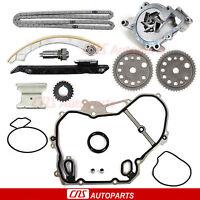 Engine Timing Chain Water Pump Kit 00-08 Chevy Saturn 2.0l 2.2l Dohc Ecotec L61 on Sale
