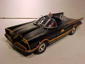 BATMAN-1966-Classic-TV-Series-Batmobile-Diecast-1-24-Jada-Toys-8-inch-NO-BOX-BLK