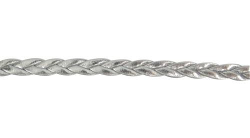 3 mètres de cordon tressé en simili cuir couleur argenté,perles,fimo