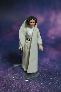 VINTAGE-Star-Wars-COMPLETE-Princess-Leia-ACTION-FIGURE-KENNER-blaster-gun-white