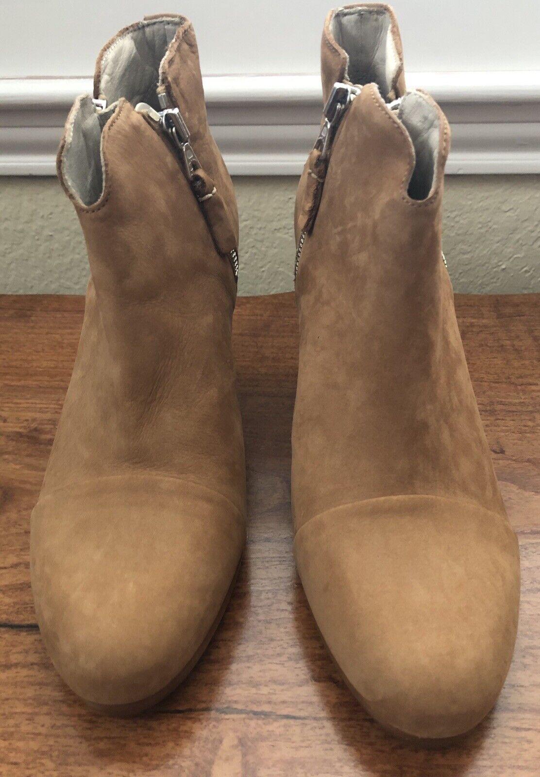 Rag & 100% Bone Margot Stiefel- Brand New, 100% & Authentic - Größe 9M - Camel Nubuck 78037c