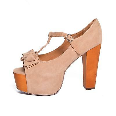 JEFFREY CAMPBELL scarpe donna Foxy Luanne Kidsuede Beige