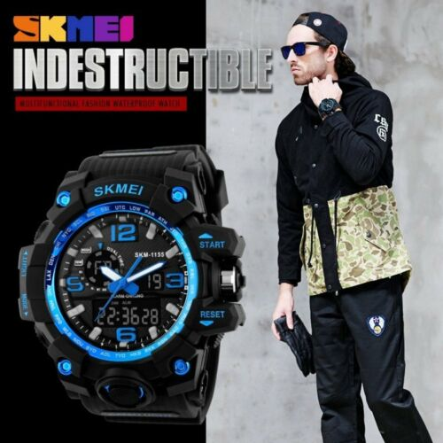 Hot Sale Analogue & Digital Big Dial Military Men's-Women Luxury Sports Watch