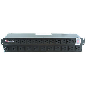 20 Outlet 19 Inch Rack Mount Power Strip Pdu Powerbar