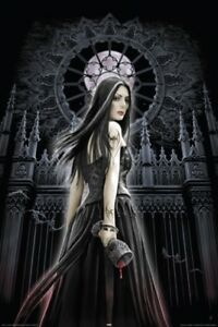 ANNE-STOKES-POSTER-Gothic-Siren-full-moon-blood-NEW