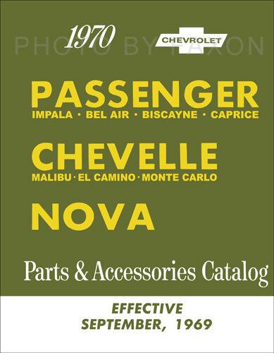 1970 Illustrated Parts Book Chevelle Malibu El Camino Monte Carlo Nova Chevy 70
