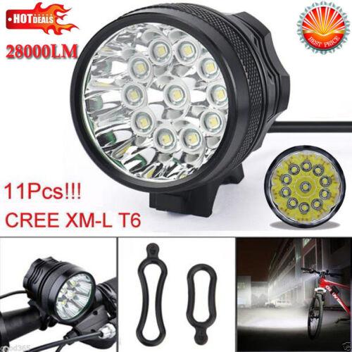 28000LM 11X CREE XM-L T6 LED Bicycle Headlight Bike Lamp Light Cycling Torch