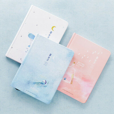 """""""Blue House"""" 1pc Hard Cover Cute Sketchbook Blank Freenote Diary Notebook Gift"""