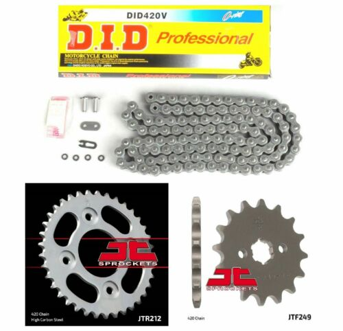 420 JT Sprockets and DID D.I.D Oring Chain Kit Honda Grom 125 MSX125 2013-2018