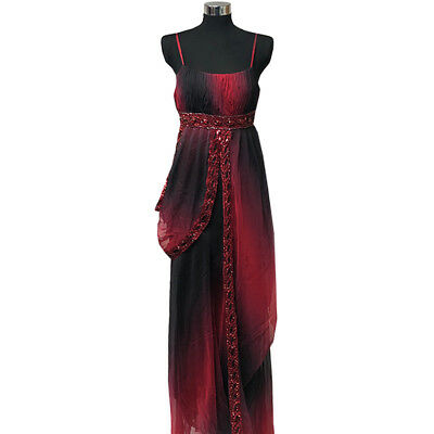 Long Knot Grecian Panel Maxi Evening Party Dress Size 10-26 Black Cruise