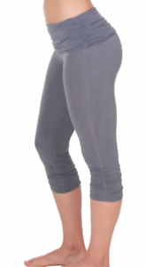 yoga capri legging SOLID small and mediums Omgirl Ahimsa Capri