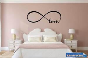 Dettagli su Adesivo murale Infinito Love per Camera da Letto Adesivo4You