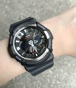 Casio G-Shock *GA200-1A Anti-Magnetic Anadigi Black Watch for Men Ivanandsophia