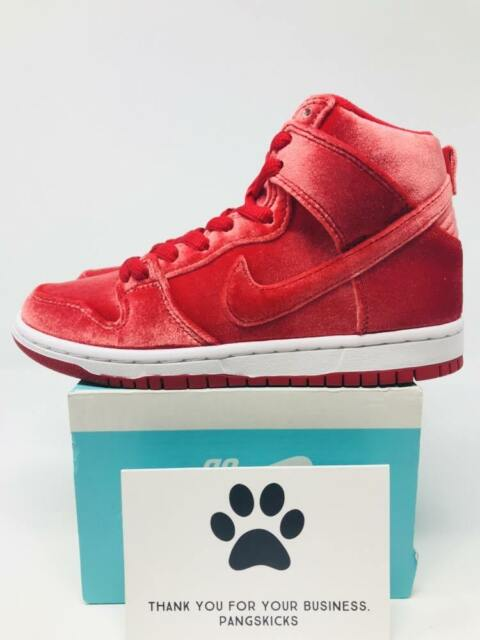 reputable site 9a4cf 4406d Nike Dunk High Premium SB Mens Size 9 Gym Red White Casual Shoes 313171 661