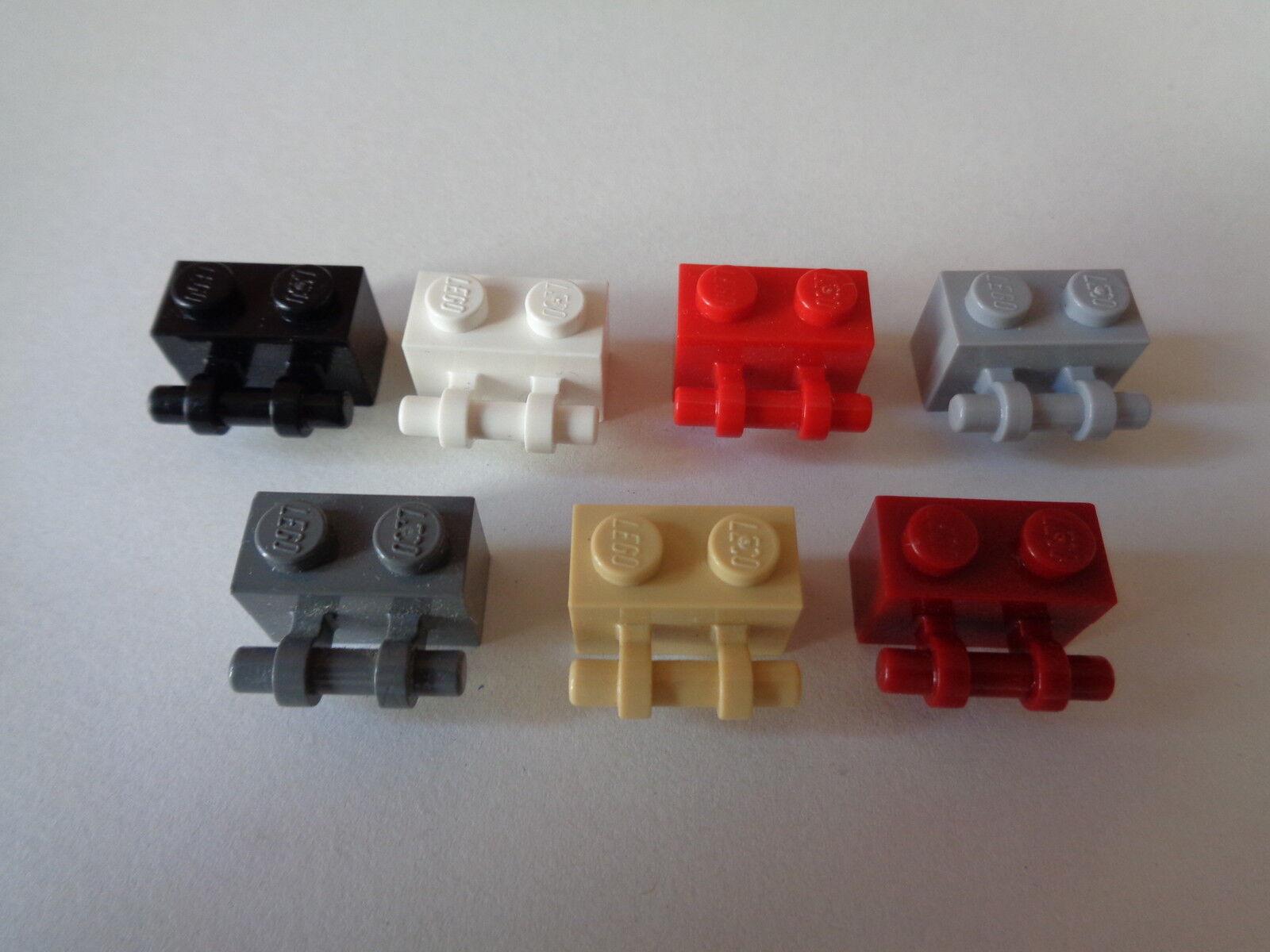 Lego ® Lot x10 Briques avec Poignée Brick 1x2 Handle Choose Color 30236 NEW