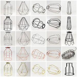 Pantalla-Luz-de-alambre-de-metal-industrial-vintage-jaulas-para-lamparas-de-escritorio-Colgante-de