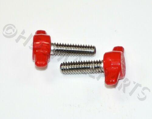 "1//4/""-20 Tee Wing Thumb SS Screws-Plastic Knob 4-50 per package Red HDsmallPARTS"
