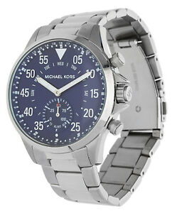 Image is loading MICHAEL-KORS-Men-Watch-Gage-Hybrid-Smartwatch-silver- 3d0189399b