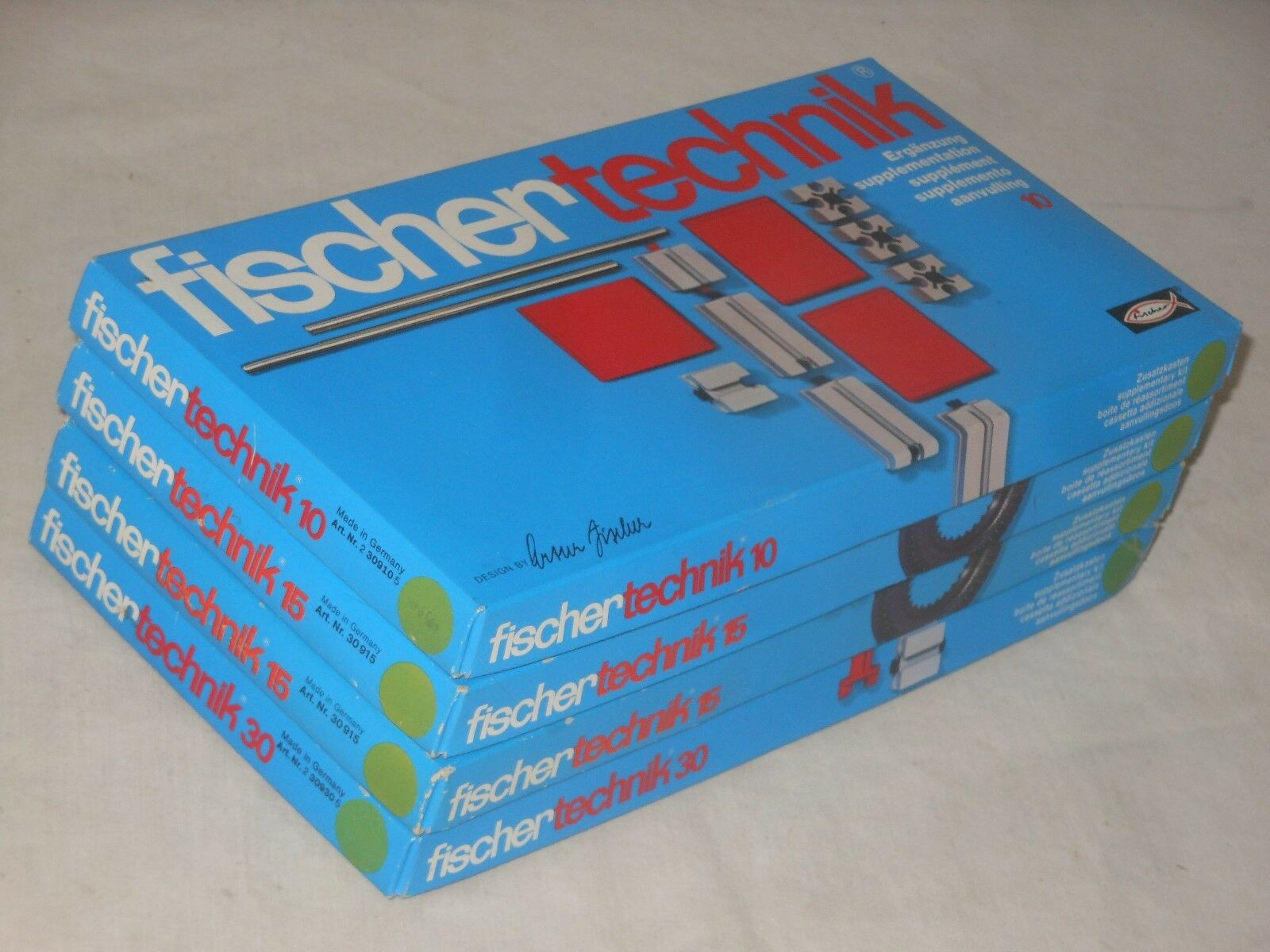 Fischertechnik Mega Lot - Sets 10+2 x 15 +30 - Ovp - Complete