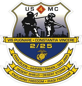 USMC-Marine-Corps-2nd-Battalion-25th-Marine-Regiment-Decal-Sticker