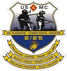 USMC-Marine-Corps-2nd-Battalion-25th-Marine-Regiment-Decal-Sticker