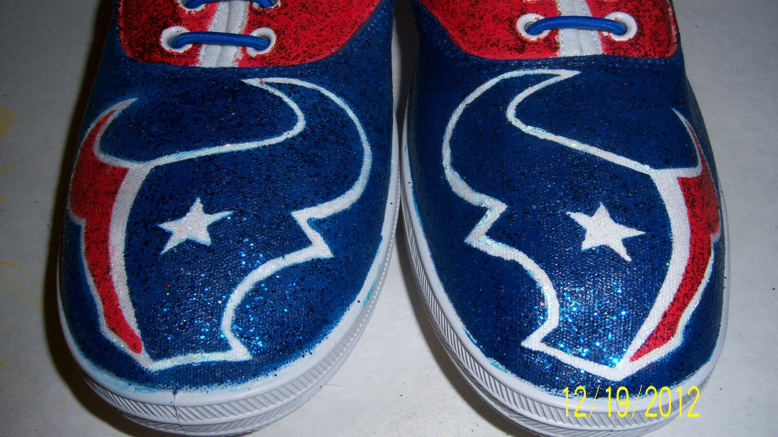 Hand Painted Bling Bling Houston Texans NFL Tennis  shoes Sneakers